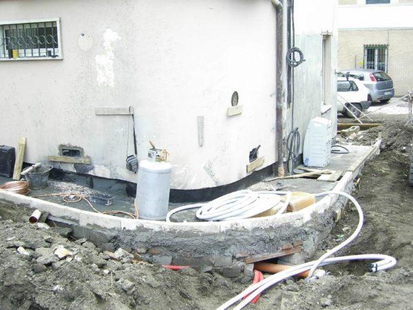 Impianti idraulico ed elettrico esterni