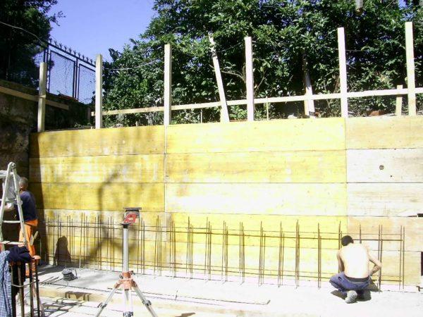 Solaio e pareti in cemento armato